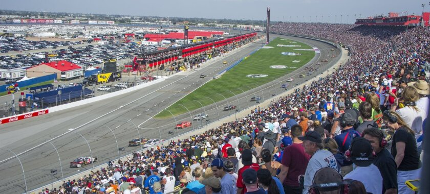 A sellout crowd at Auto Club Speedway