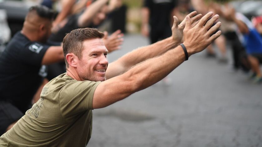 WEST HOLLYWOOD, CALIFORNIA SEPTEMBER 5, 2018-Nate Boyer works-out at the Unbreakable Performance Cen