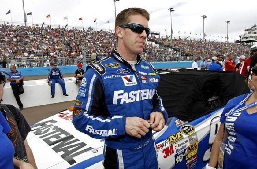 Sprint Cup notes: Carl Edwards plays the fuel badly