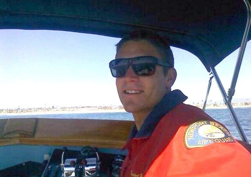 Ben Carlson, a 15-year veteran Newport Beach lifeguard, drowned in July during a rescue attempt near the city's pier.