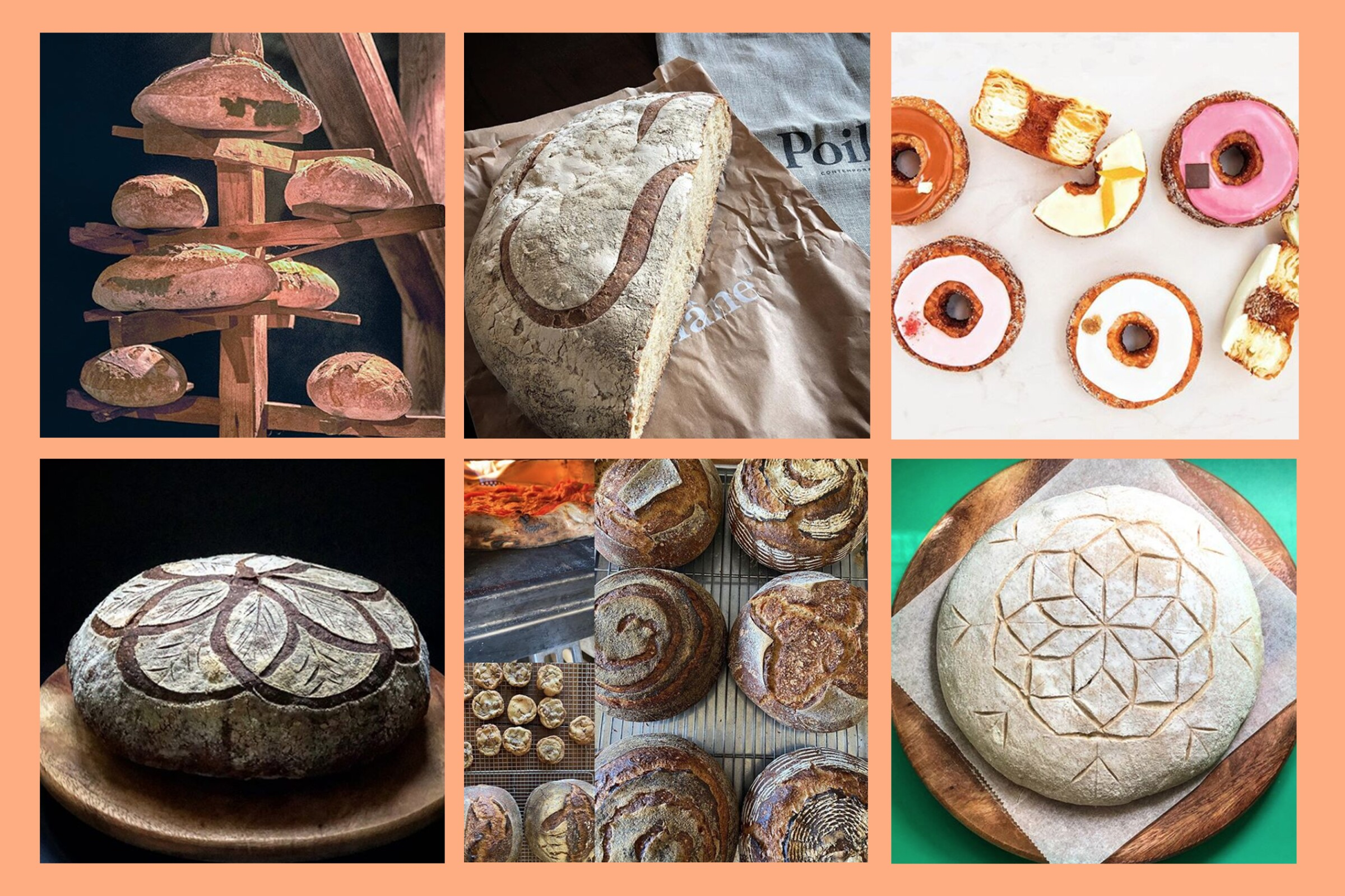 Images from Bread Project Worldwide, Gary Menes, Dominique Ansel, Poilâne and Morgi's Dough Engineering.