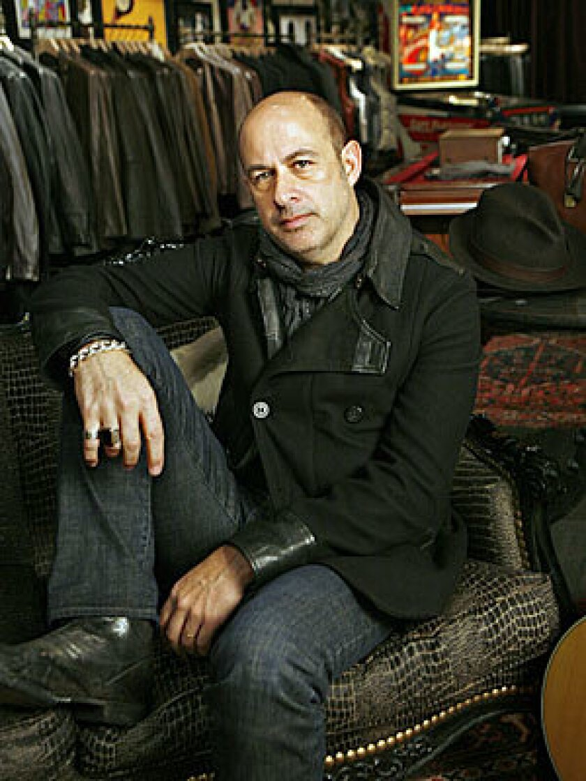 SELLING AN IMAGE: New York-based John Varvatos, who hopes to go global, has long plumbed the rock 'n' roll aesthetic.