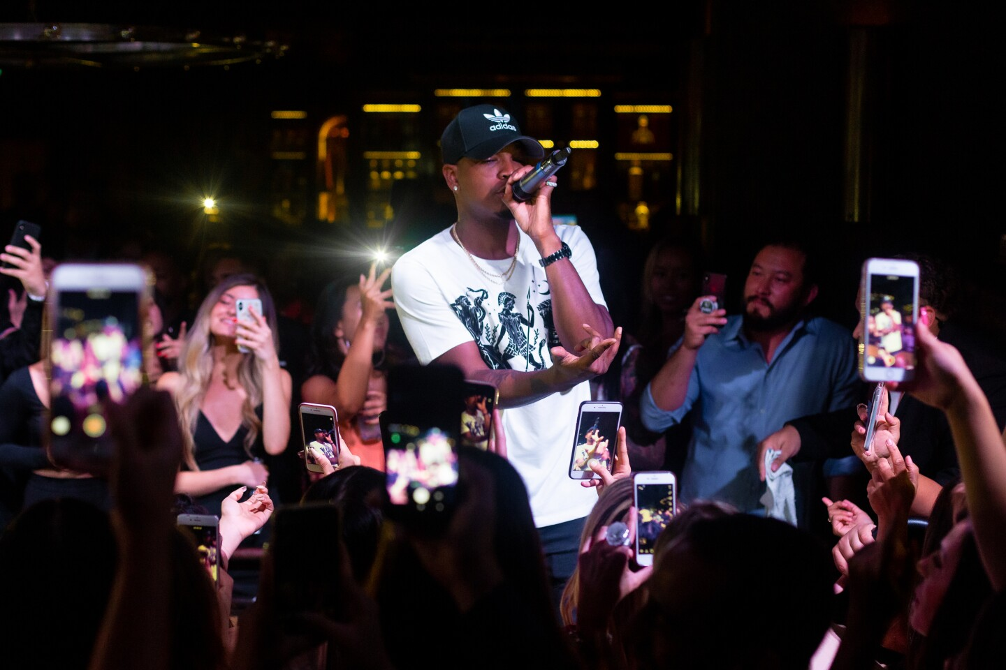 Ne-Yo mixed and mingled with the crowd during an appearance at Oxford Social Club on Friday, Aug. 23, 2019.