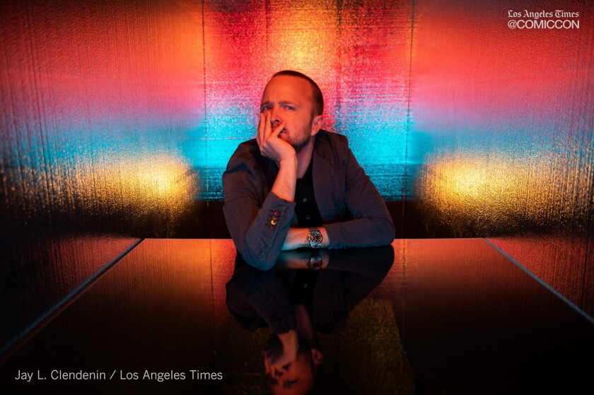 "Actor Aaron Paul from the television series ""Westworld,"" photographed at the L.A. Times Photo and Video Studio at Comic-Con International on Saturday in San Diego."