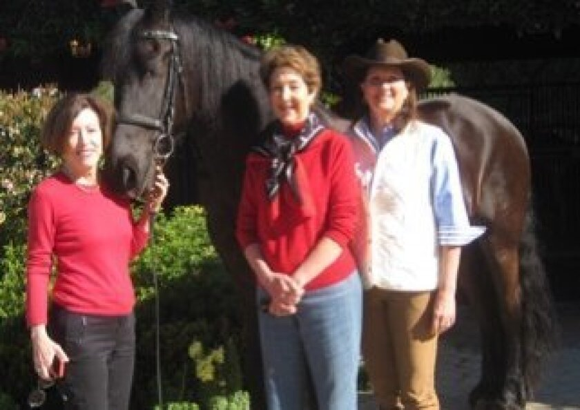 Peggy Brooks, Jane Carlin and Helen DiZio of the Rancho Santa Fe Historical Society are firming up plans for the 2015 Barn Tour. Courtesy photo