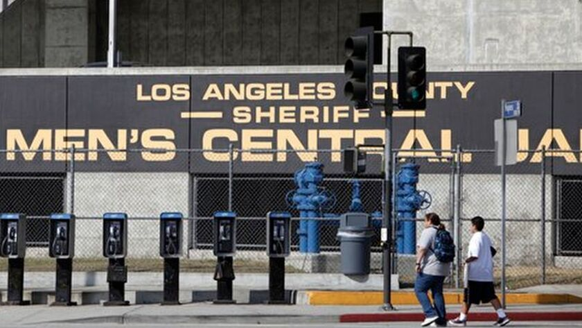 The Los Angeles County Sheriff's Men's Central Jail facility is seen in this Sept. 28, 2011, photo.