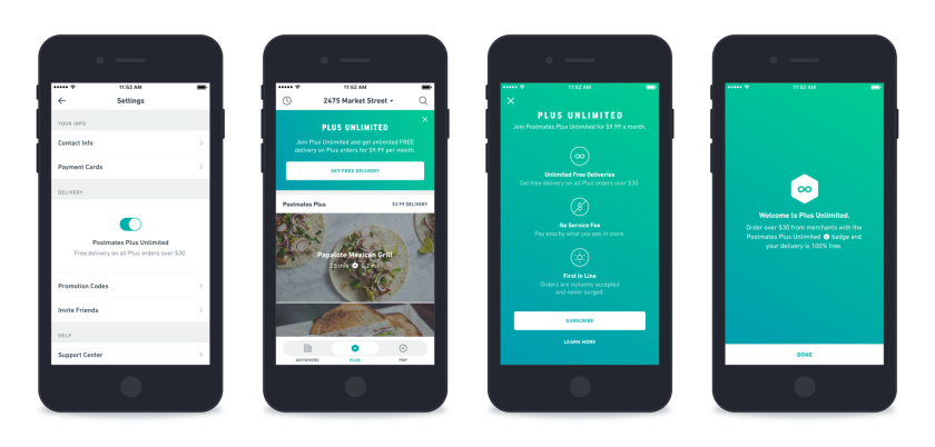 Postmates launches subscription service to shore up loyalty