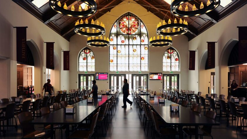 LOS ANGELES, CALIFORNIA AUGUST 4, 2017-A view of the dining hall at the USC Village. The $700 millio