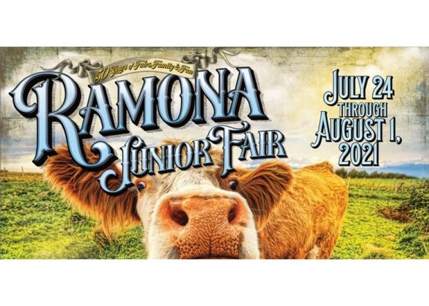 Ramona Junior Fair banner