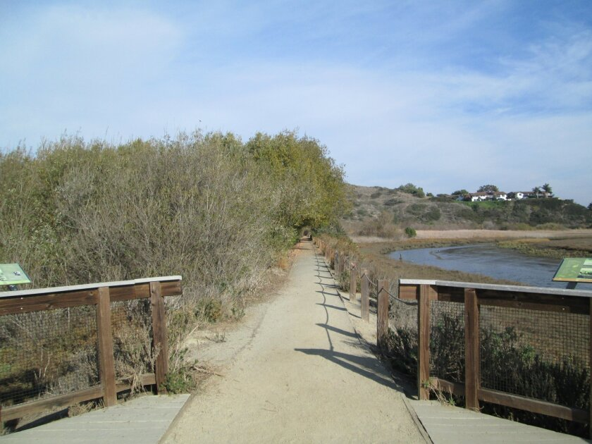 A trail along the San Elijo Lagoon near the nature center in Cardiff. L. McIntosh