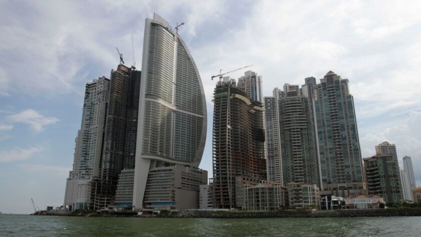 FILE - In this photo taken July 4, 2011, shows the Trump Ocean Club International Hotel and Tower, t