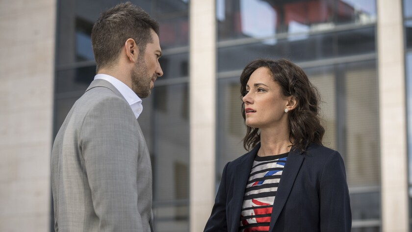 """Luke Roberts and Natalie Brown in """"Ransom"""" on CBS."""
