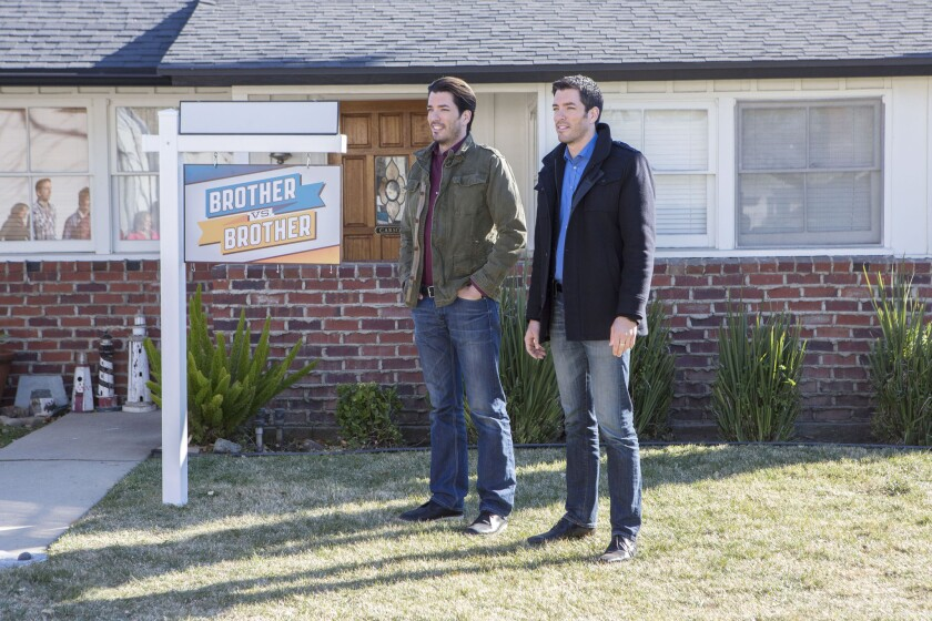 """Jonathan Scott and Drew Scott of the HGTV show, """"Brother vs. Brother."""""""
