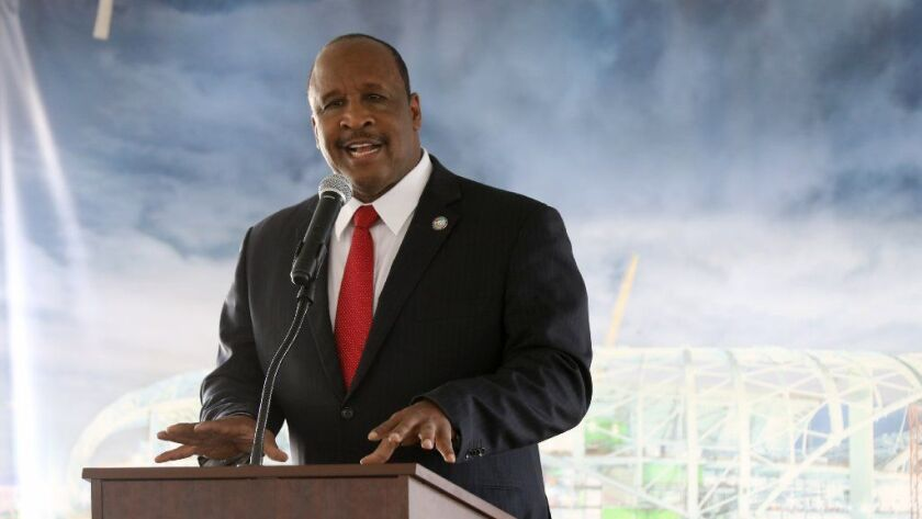 James T. Butts Jr., mayor of Inglewood, was involved in a crash on Tuesday.