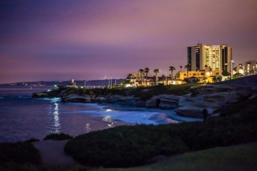 A stunning nighttime view of the La Jolla coastline and Village through the lens of Nick Agelidis. Photos by Nick Agelidis