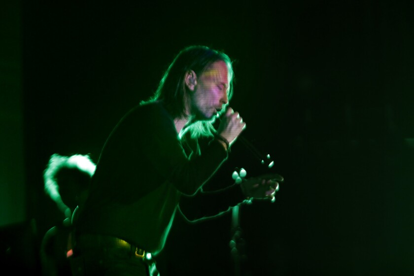 Thom Yorke performs Wednesday night at the Orpheum Theatre.