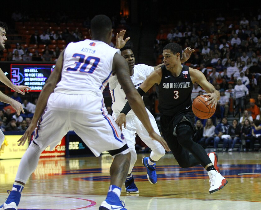 NCAA Basketball: San Diego State at Boise State
