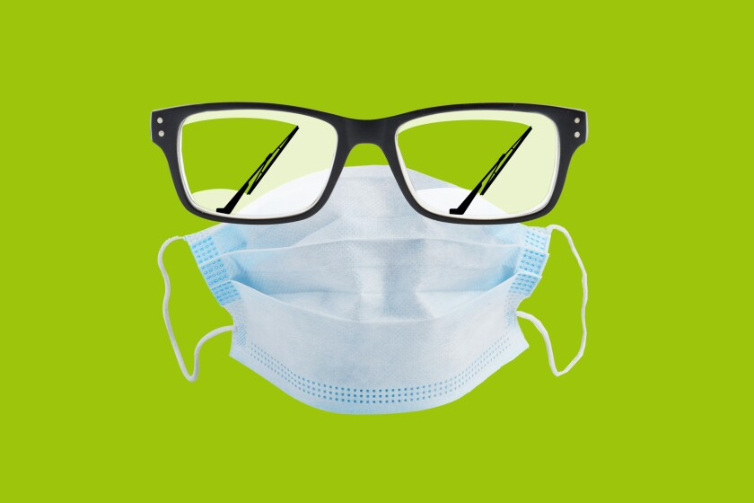 Photo Illustration for article about tips on how to wear a mask in the 2020 Pandemic