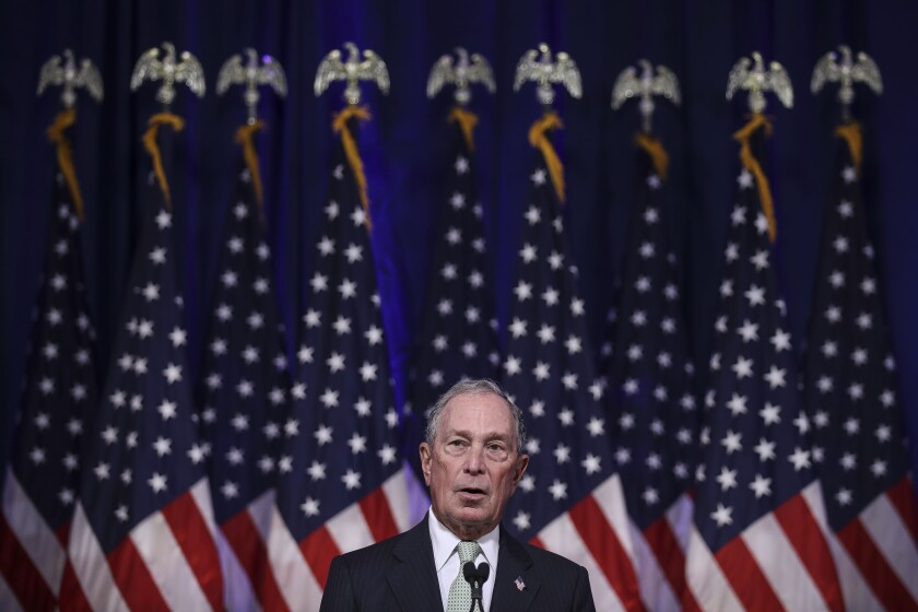 Democratic presidential candidate Michael R. Bloomberg.