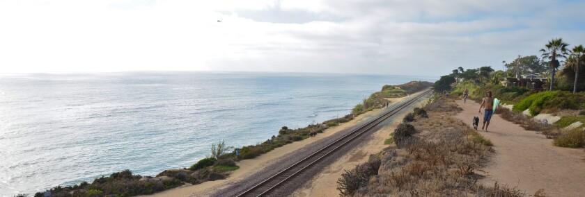 Amtrak rails through Del Mar.