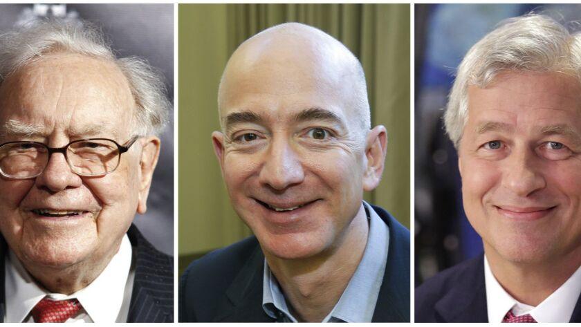 Warren Buffett, Jeff Bezos and Jamie Dimon