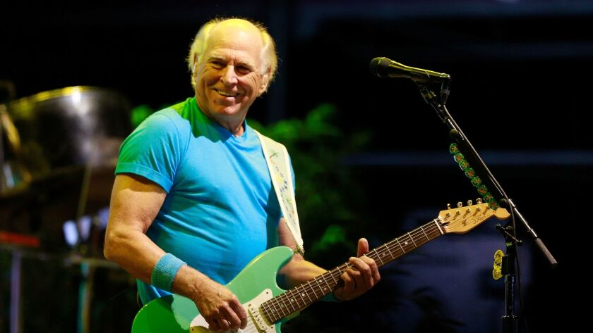 Jimmy Buffett is shown performing Sept. a6 at the KAABOO Del Mar festival. He is returning for an Oct. 18 show at Humphreys Concerts by the Bay.