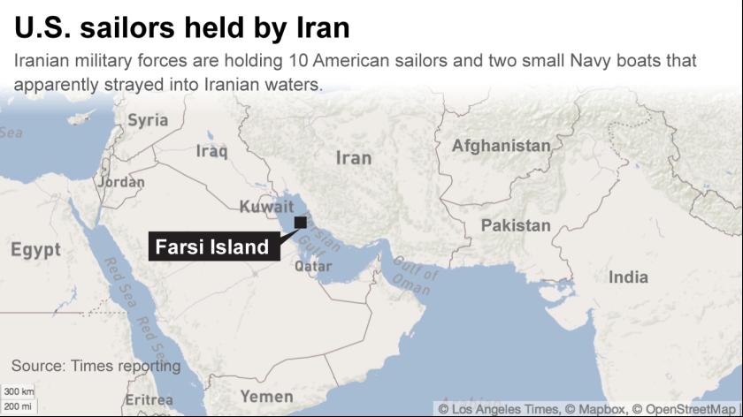 American sailors held by Iran