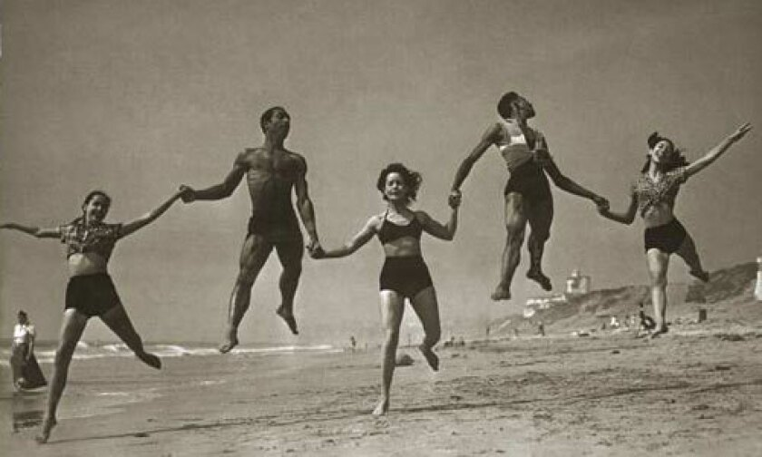 In November 1953, dancers with the Hollywood Negro Ballet pose for a publicity photograph for Ebony magazine.