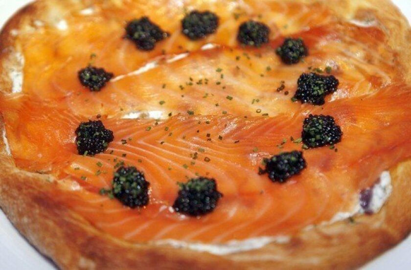 Smoked salmon always makes for a perfect breakfast or brunch.