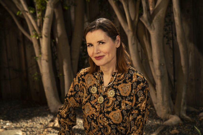 Actress Geena Davis is photographed at her home ahead of the sixth annual Bentonville Film Festival.