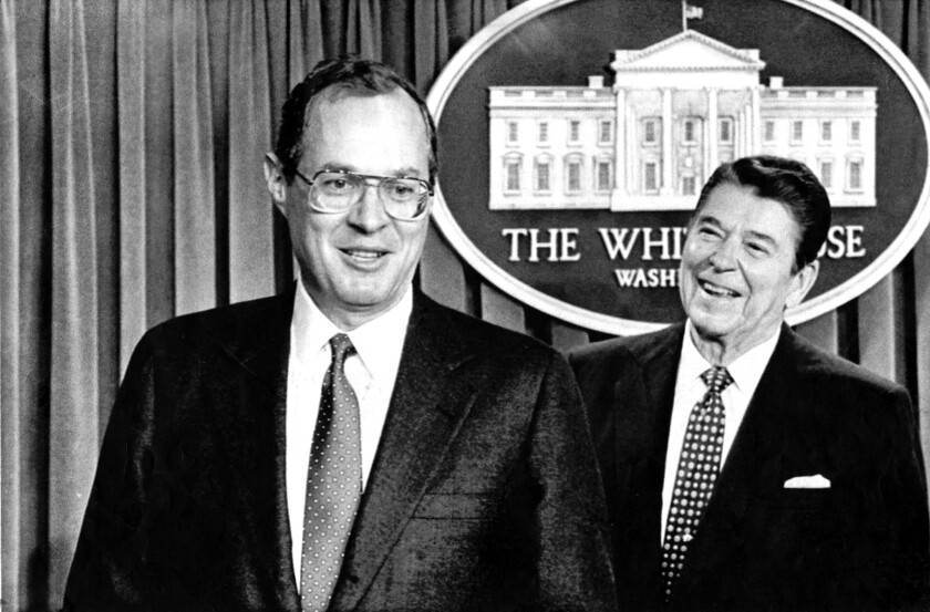 Ronald Reagan and Anthony Kennedy in 1987