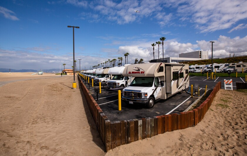 Los Angeles County is planning to use Dockweiler Beach RV Park and multiple other locations throughout the region to temporarily house individuals who may have been ordered to isolate or quarantine by the Department of Public Health due to the novel coronavirus (COVID-19) .