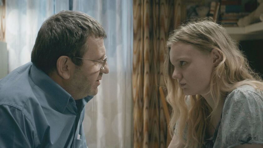 """Adrian Titieni and Maria-Victoria Dragus in """"Graduation,"""" written and directed by Cristian Mungiu."""