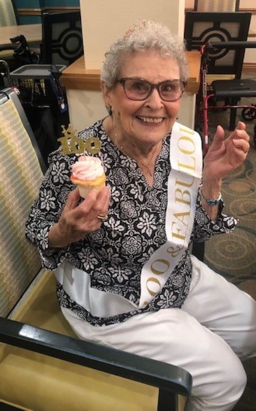 Mary Olsen turned 100 and danced at her birthday party.