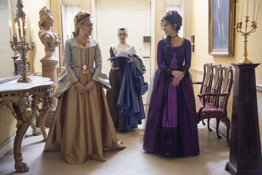 "Chloe Sevigny, left, and Kate Beckinsale, right, in ""Love & Friendship."