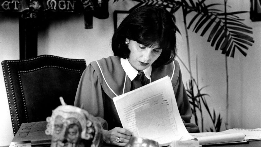 JUNE 23, 1984 -- Attorney Gloria Allred at work in her West L.A. office. (Penni Gladstone / Los Ange