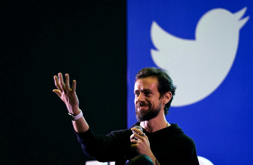 Twitter CEO and co-founder Jack Dorsey in India in November.