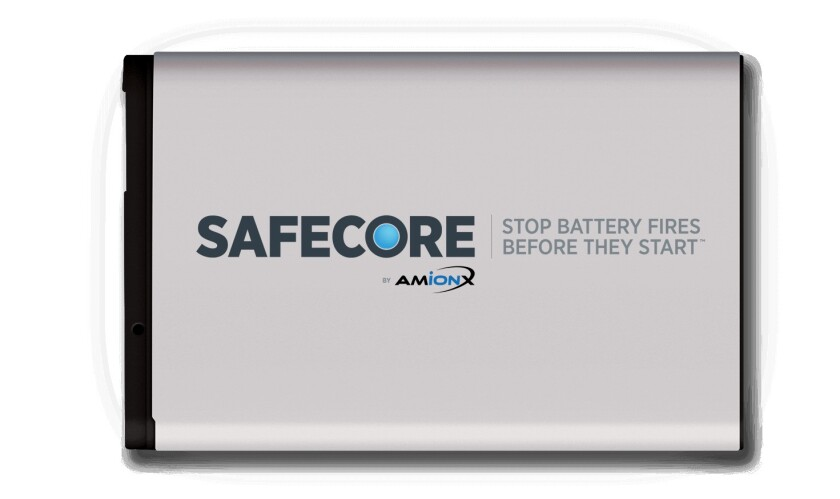 Amionx's SafeCore technology aims to block battery fires.
