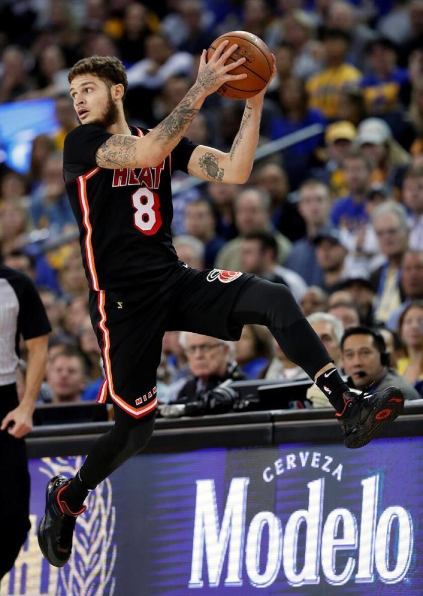 En la imagen, el jugador de los Miami Heat, Tyler Johnson. EFE/Archivo