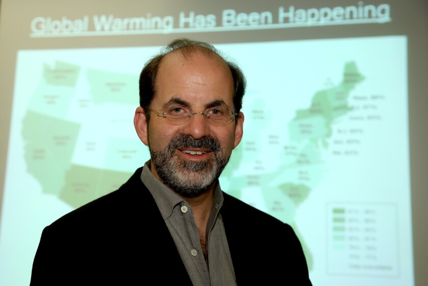 Jon Krosnick, professor at Stanford University, studies public attitudes toward issues such as global warming.