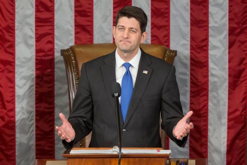 El presidente de la Cámara Baja, el republicano Paul Ryan, destacó hoy los primeros pasos dados por el Congreso para avanzar en la derogación y reemplazo de la reforma sanitaria impulsada por el todavía presidente del país, Barack Obama. EFE/ARCHIVO