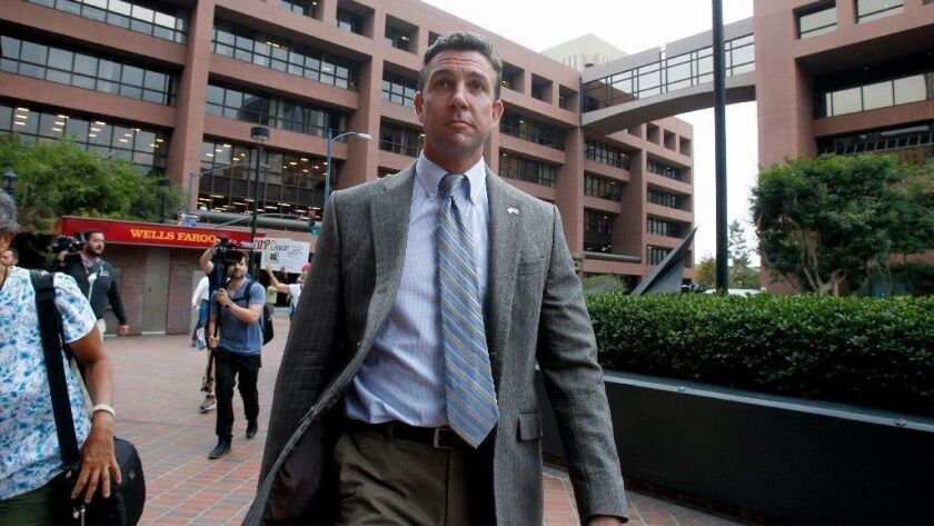 Congressman Duncan Hunter in Federal Court