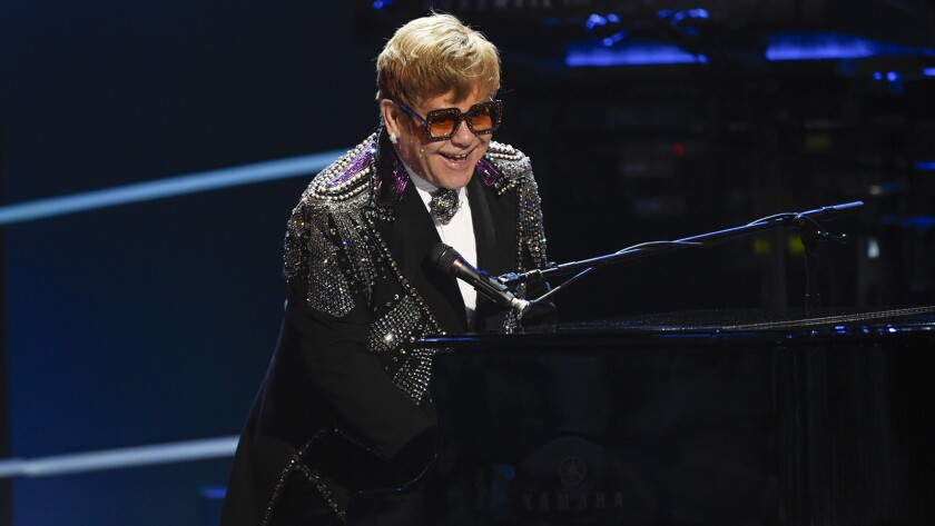 Elton John is saluted by his music-industry peers in a new concert special on CBS.