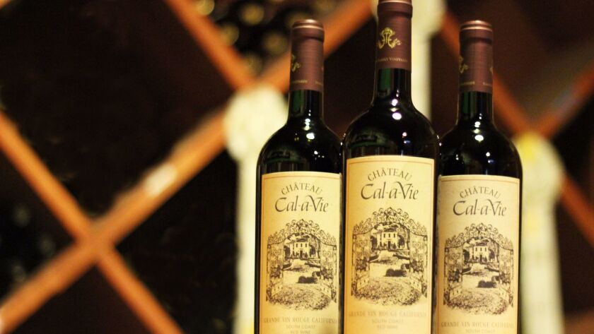 Cal-a-Vie wines, made with grapes grown on the property, are polished and sophisticated.