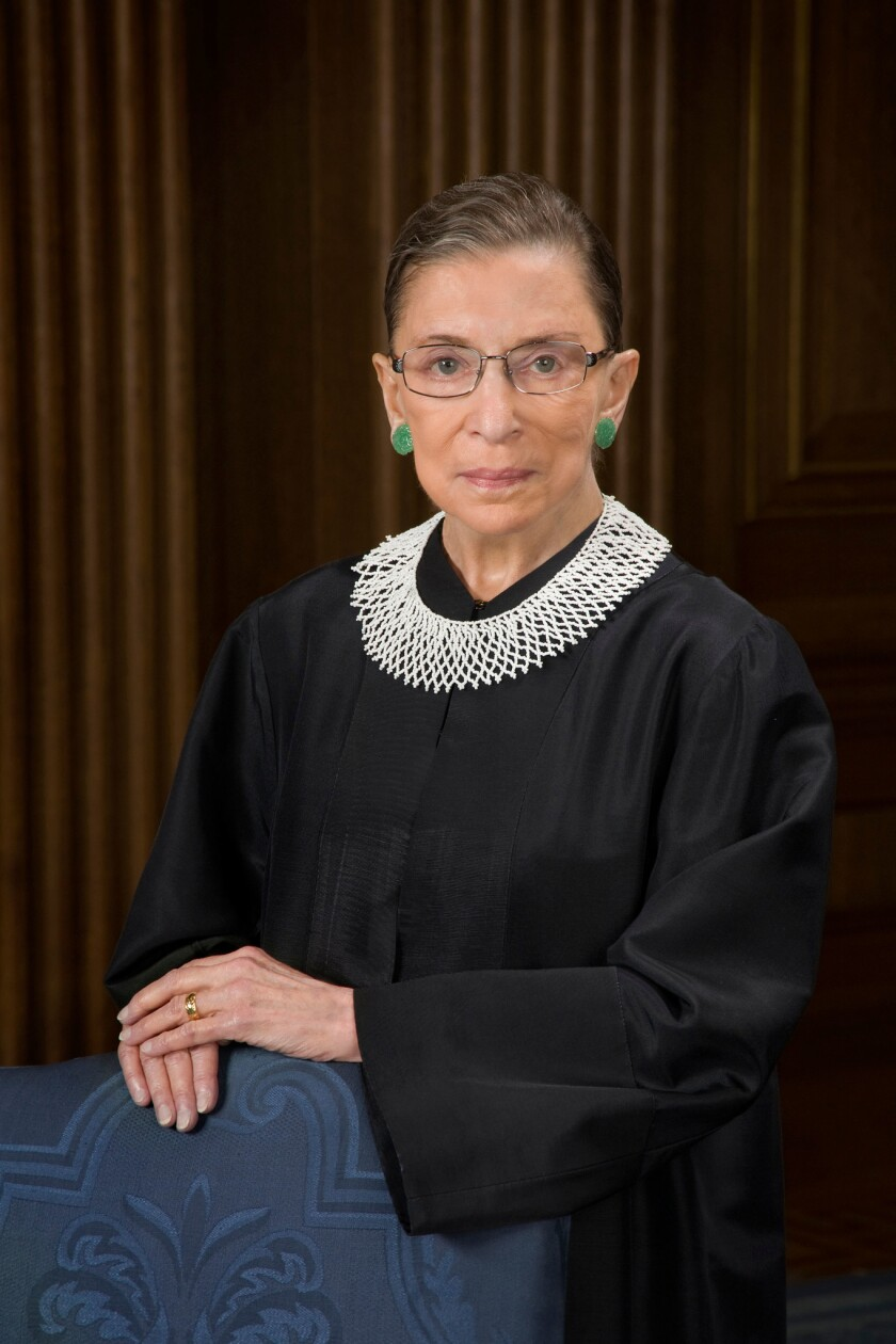 Official Portrait of United States Supreme Court Justice Ruth Joan Bader Ginsburg