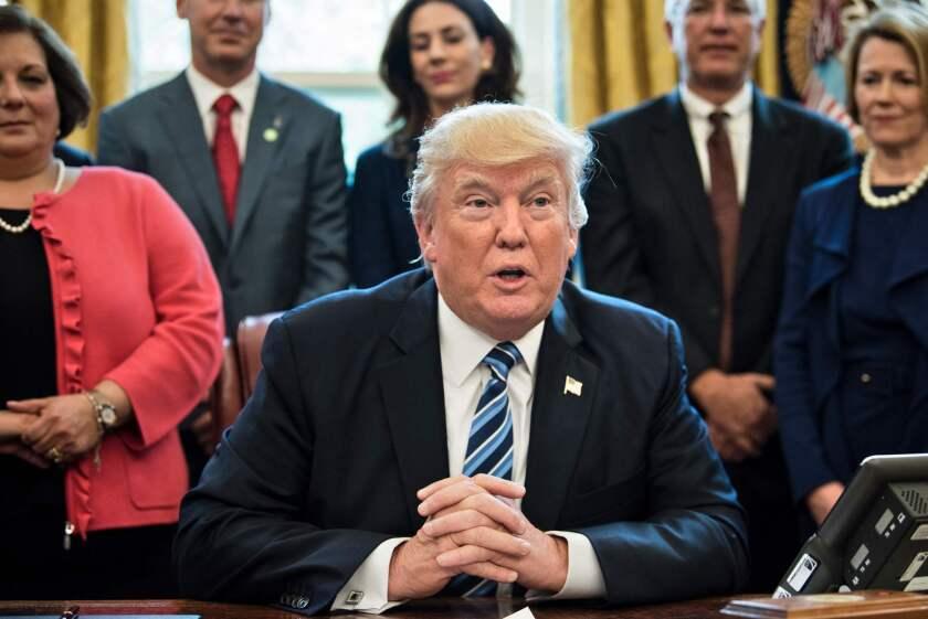 President Trump speaks before signing a memorandum regarding the aluminum industry.