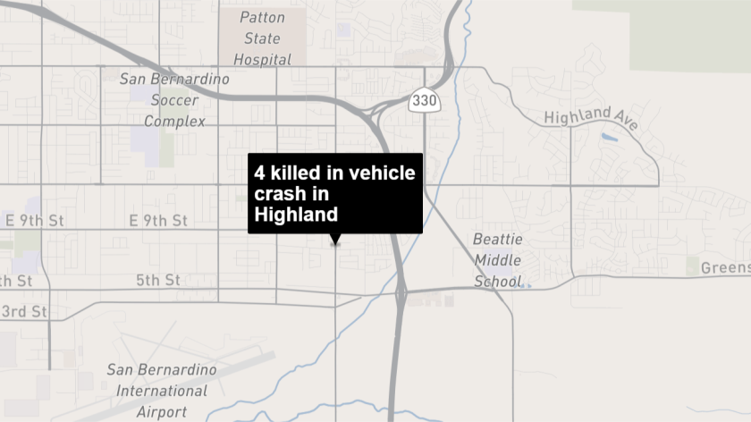 Four people dead, one in critical condition after two-car