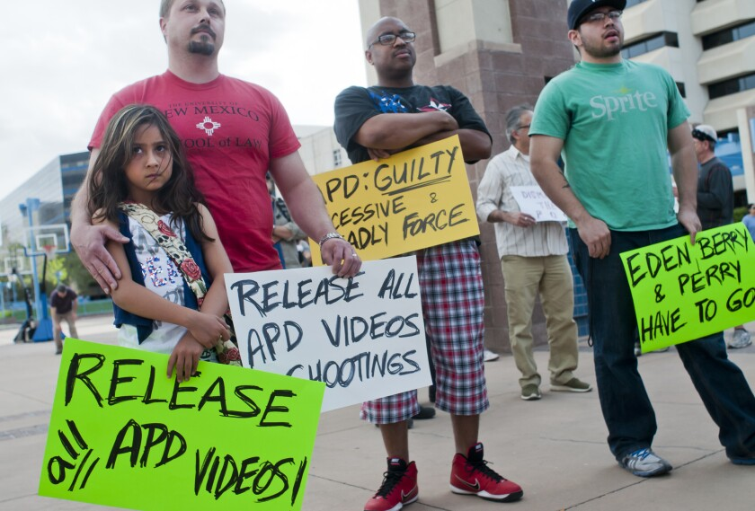 Earlier this month, protesters gathered to protest the actions of the Albuquerque Police Department.