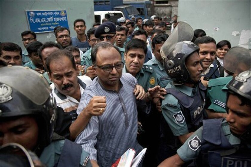 Bangladesh police arrest newspaper's acting editor - The San Diego