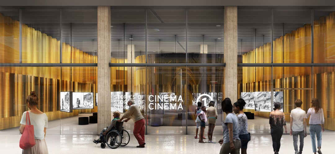 An interior rendering of the Academy Museum of Motion Pictures, designed by wHY. Founder Kulapat Yantrasast is looking into how museums might safely reopen when the lockdown orders lift.